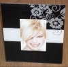Beveled Glass Photo Frame With Silk-printed