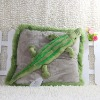 wholesale soft crocodile plush pillow toy