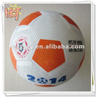 Hot selling Size 5 rubber soccer
