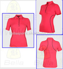 polo neck all red color Shape made to move shape up slim body tank up