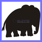 COOL DIY Peel and Stick Craft Blackboard Chalkboard Vinyl Wall Sticker--Elephant