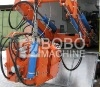 Moveable rail welding machine