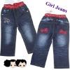 Children fashion cute jeans,bow design
