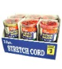 12 PK canister stretch cord bungee cord