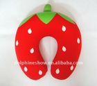 Strawberry style travel pillow