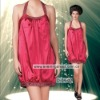 2012 Latest Red Halter Short Sexy Night Wear For Girls D-04-02