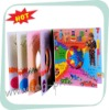 2012 salable children's interesting coloring board book