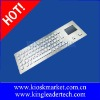 Waterproof rugged LED backlight industrial stainless steel/metal kiosk keyboard with touchpad