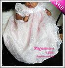 Pink New Designer Organza appliqued 2012 infant dresses
