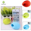 Unique silicone mini portable amplifier speaker for iphone 4 4s