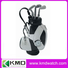 Mini model golf gift pen holder with watch