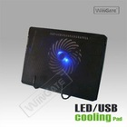 10 lot USB big Fan Blue led Notebook Cooling Pad laptop Silent Transparent pack