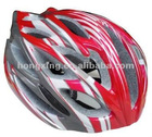 Bicycle helmet cycling helmet in red and white