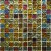 Iridescent Square Glass Mosaic tile