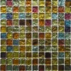 Iridescent Square Glass Mosaic tile