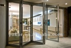 Double glazing aluminium bifold door / double glazed aluminum folding door