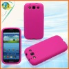 2012 New Phone Skin Case For Samsung Galaxy S3 i9300 Accessory Hotpink Pure Rubber Silicon Cover