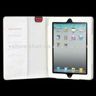 MYBAT White Rose Embossed MyJacket(with card slot) Protector Cover for iPad2/New iPad