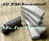 Diamond segments of core drill bit