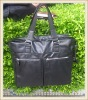 2012 Bestselling high quality black leather briefcase