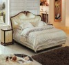 Neoclassical Leather Soft Bed D3105