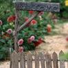 flower parterre in fir