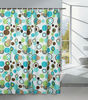 Bathroom polyester waterproof fabric shower curtain