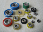 Ball bearing with PU coated, shelled & flat, 608, 626,609