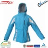 children blue skiing jacket with waterproof zipper and inner Polyester Tricot