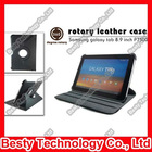 "360 Degree Rotatory Stand Leather Case for Samsung Galaxy Tab 8.9"" Inch P7300 P7310 with Elastic Strip"