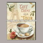 Abstract Antique Canvas Cafe Oil Painting for Wall Decor
