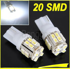 2x T10 W5W 194 Car White 20 SMD LED Side Light Bulb 12V