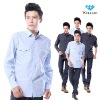 New fashion brand design 100% cotton solid European style long sleeve wholesale casual latest shirt designs for men