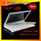 13.3 inch D525 dual core laptop with DVD-RW,160GB, 1GB RAM
