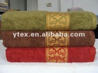 100% cotton embroidery bath towel
