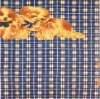 160cm Wide Partner Blue Printed Flannel 100% Cotton Textile Fabric