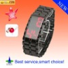 HOT Mirror Iron watch Samurai 2011 Red/Blue digital LED Watch