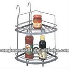 Dual tier corner spice rack