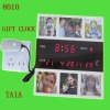 with 8 pcs frame high level electronic square gift digital clock