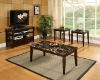 3 Pack Table,Faux Marble Top Coffee Table And End Table