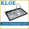Rectangular,304 stainless steel,double bowl,kitchen sink with faucet