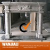 indoor carved marble fireplace