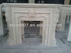 Beige Marble Mantel With Carving