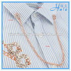 Decorative Garment Accessories Rhinestone and Metal Chain Shirt Collar Pin