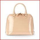 Handmade in Nude Pink Deep-Shine Italian Patent Calf Ladies Handbag