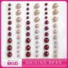 Fashion charming mix color mix size round pearl sticker