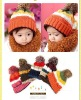 2012 Fashion knitted warm hats for children, hot sell cute warm caps for childrne