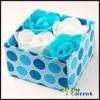 Wedding rose soap,4pc/set FZ