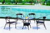 outdoor rattan furniture beach table and chairs