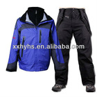 useful for sports colour warmth and breathable and water proof PTFE ski suit set
